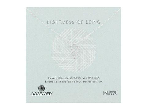 Dogeared Lightness Of Being Air Triangle Necklace at 6pm.com