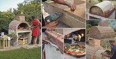 SUPER! Un plan et un album photo pour fabriquer son propre four à pizza! La pizza cuite au four à bois est tellement meilleure que toute les autres! C'est DÉLICIEUX! Avec cet album et les mesures, vous pourrez réaliser le vôtre! Il faut d'abord monte
