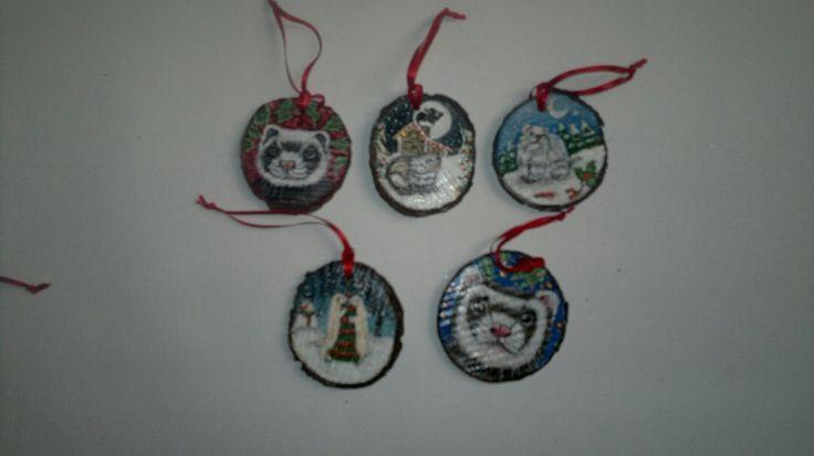 Christmas decoratios with ferrets