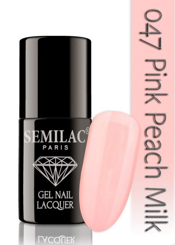 Semilac 047 Pink Peach Milk UV&LED Nagellack. Auch ohne Nagelstudio bis zu 3 WOCHEN perfekte Nägel!