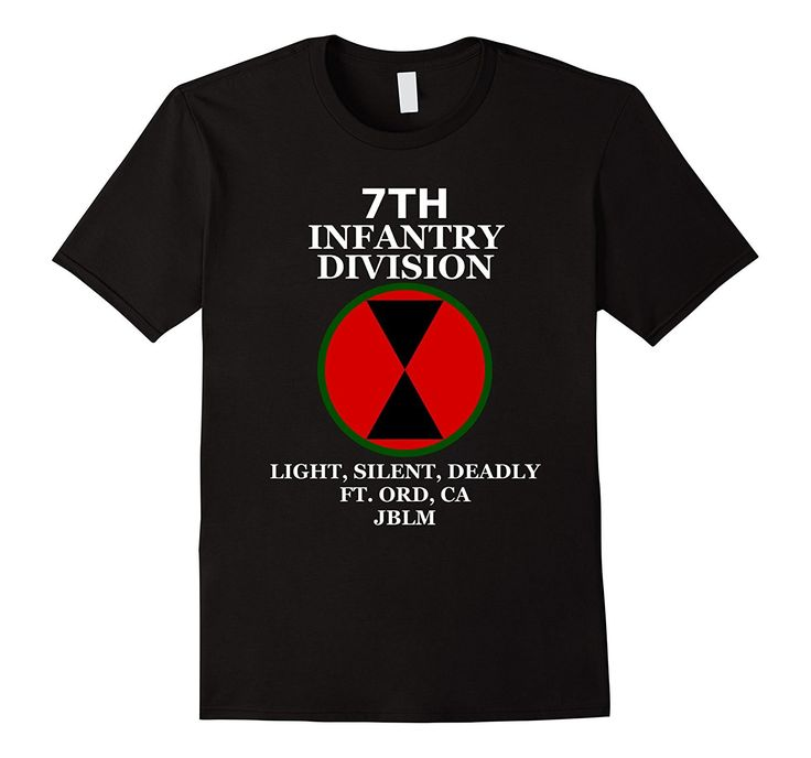 7th Infantry Division - Light- Silent- Deadly Army T-Shirt