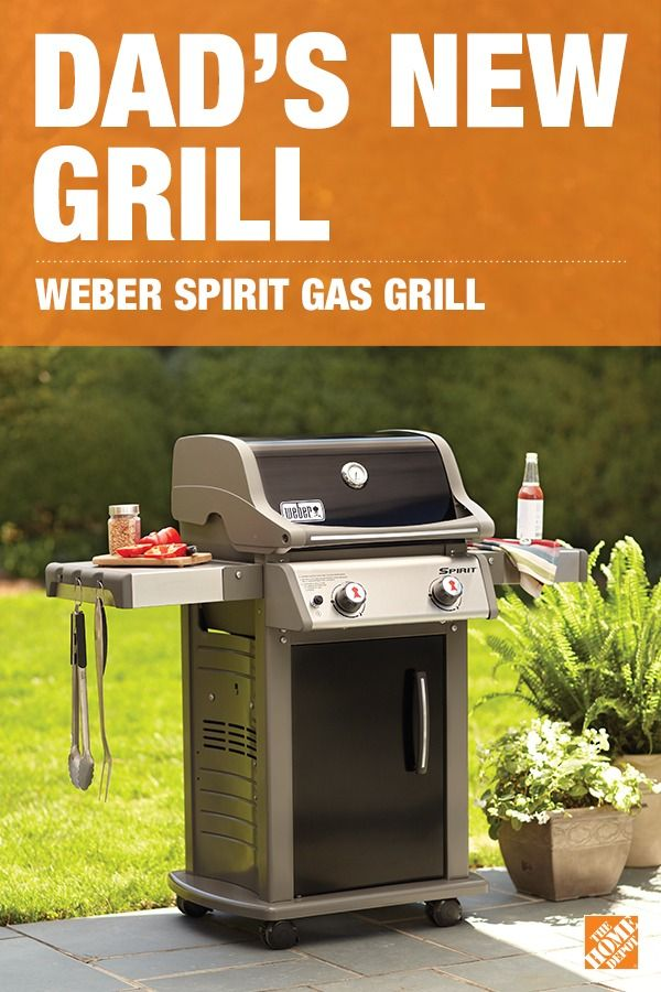 Take your backyard barbecues to the next level with a Weber Spirit Gas Grill. With 2 fold-down tables for easy storage, porcelain-enameled cast-iron cooking grates, and an easy-to-clean design, Dad is sure to be the king of every barbecue. Click to explore more impressive grills.