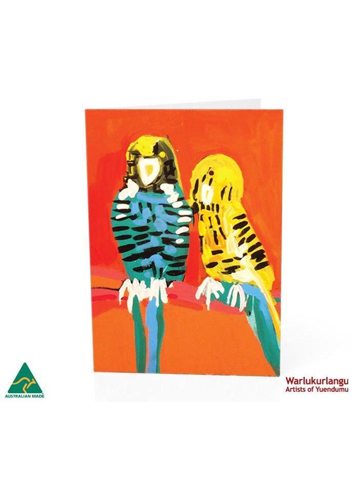Birds of Yuendumu  Art Card -  Striped