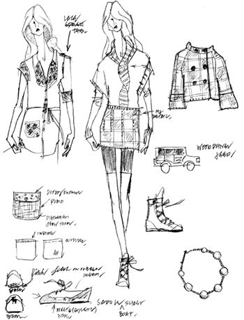 Process Sketches Fashion Illustration on Behance