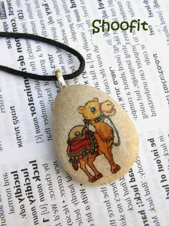 Camel, camel necklace, camel jewel, camel pendant, camel on stone, animal necklace, middle East, Israel, oriental jewel,camel charm necklace
