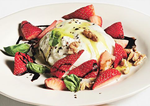 basil. burrata. balsamic. strawberries. almost couldn't contain more ingredients that I love. @Jessica Frucht and @Chris Tumbler you in?