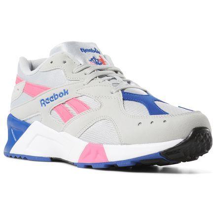 Reebok Shoes Unisex Aztrek in Grey Royal White Size M 8   W 9.5 - Retro  Running Shoes in 2019  9e751bd3d