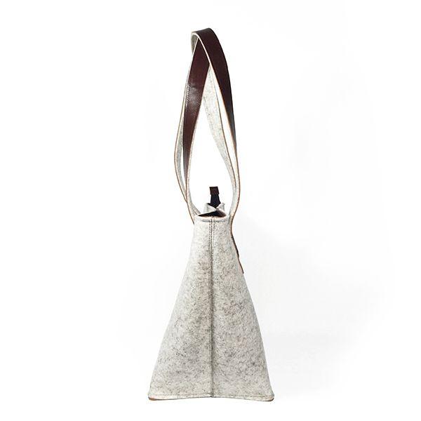 shoulder bag - ANNA - white melange 2