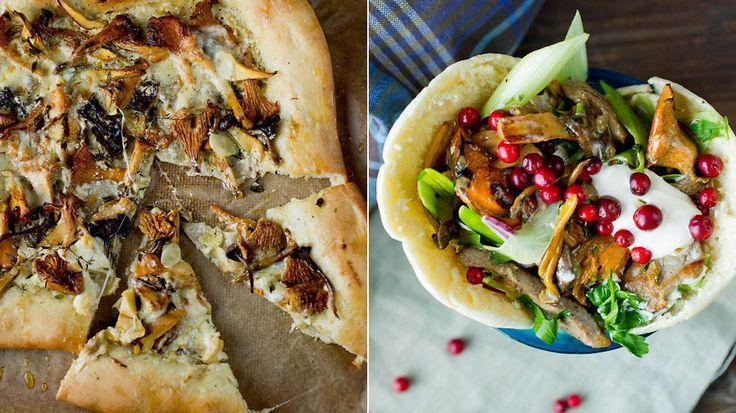 Høstens beste sopp-oppskrifter: Hvit pizza, lammekebab og fylt pasta med sopp
