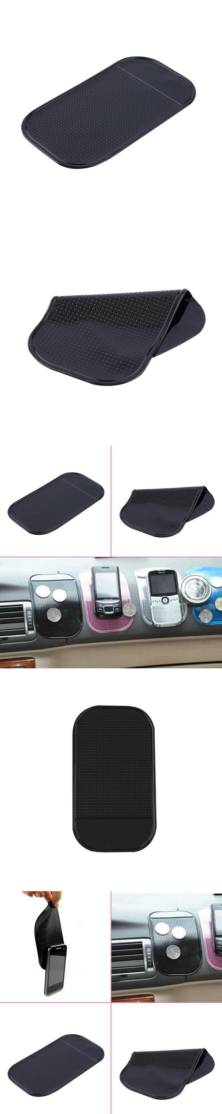 1pc Anti Slip Mat Black Car Dashboard Sticky 1pcs Magic Sticky Pad Holder Pad Silica Gel For Car Mobile Phone Car Accessories