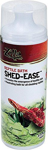 Even in the healthiest terrariums reptiles can have more trouble shedding their skin than they would in the wild. Shed-Ease makes the process much easier thanks to a rich formula of aloe vera and ot...