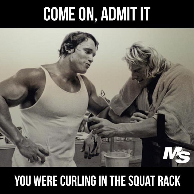 Were You Curling In The Squat Rack Fitnessgoals