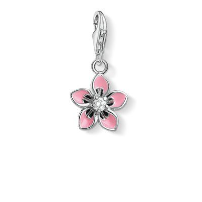#Flowerpower: the radiant #THOMASSABO #Flower Charm made of 925 Sterling silver set with white #zirconia and #pink enamelled petals ensures the #perfect #summer mood.