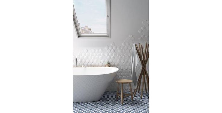 Equipe Ceramics: Magical3 is a line of 3-D relief decorative wall tiles that come in hexagon and square and in four relief patterns. -- 17 Awesome Products We Saw at the 2016 Coverings Tile Show | Residential Products Online