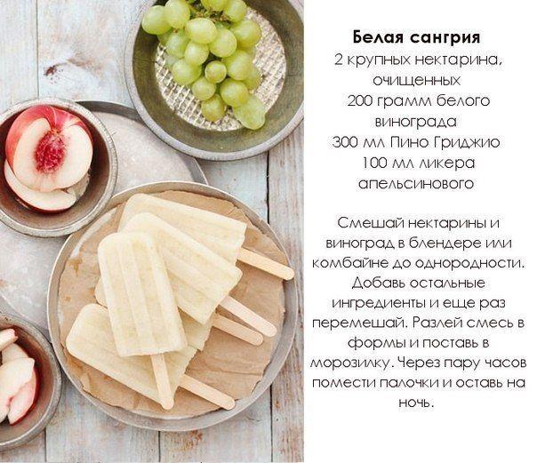 """Мороженое """"Белая сангрия"""""""