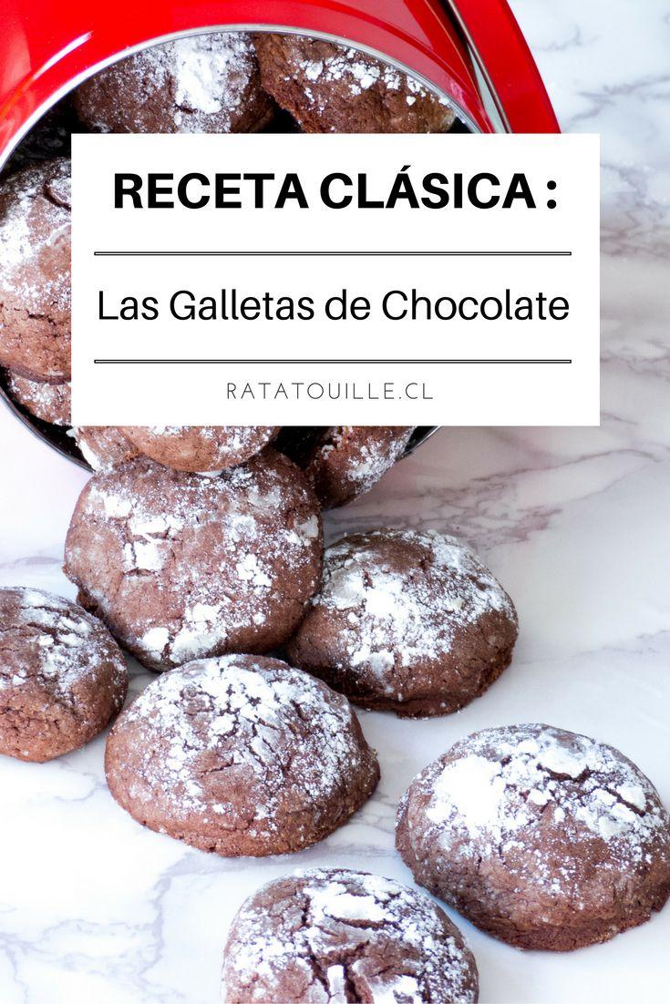 Estas galletas de chocolate son adictivas: crocantes afuera y suaves a dentro, una delicia! No te pierdas la receta en el blog.