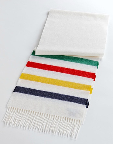 HUDSON'S BAY COMPANY COLLECTION Woven Wool Scarf