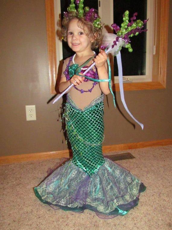 Children S Mermaid Costume Made To Order Mermaid Costume Custom Child Costume Mermaid Princess Mermaid Outfit Princess Mermaid Traje De Sirena Disfraz De Sirena Casero Disfraz De Sirena