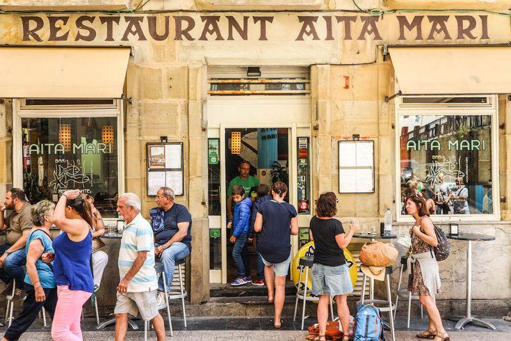 Old sign San Sebastian Travel Spain
