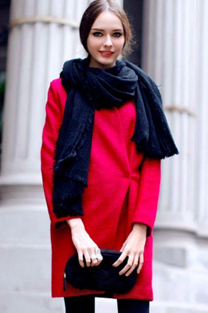 Stand Collar Rose Coat
