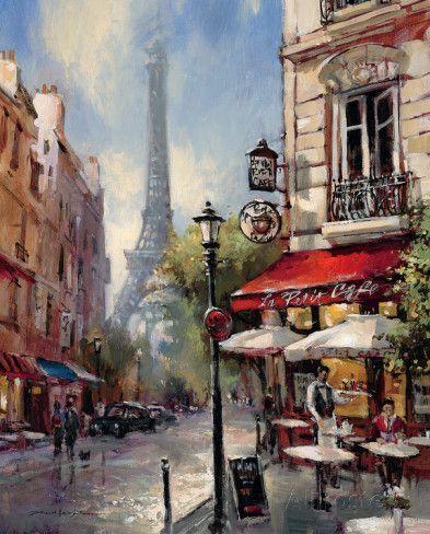 Tour De Eiffel View Lámina                                                                                                                                                                                 Más