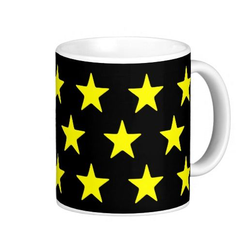 Yellow Stars On Black Mug  Perfect for your yellow and black home decor   #stars #kitchen #lounge #diningroom #white #blackandwhite #his #hers, #male #female #drink #drinking #black #lounge #diningroom #white #multicoloured #kitchen   #hers #male #female #drink #drinking #colourful #colours #designer #his   #chic #retro #modern #stylish #cute #vintage #style #radiant #happy    #birthday #anniversary #xmas #occasions #beautiful #home #bedroom    #bright #bold #love #yellow