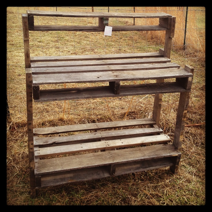 Handcrafted Potting Bench From Pallets Made By Husband