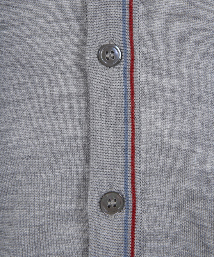 Grey Marl Journal Tipped Cardigan, John Smedley. Shop the latest men's knitwear from the John Smedley collection online at Liberty.co.uk