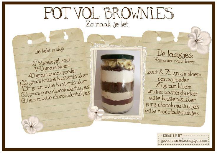 Pot vol brownies