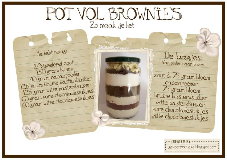 Een pot vol brownies.....