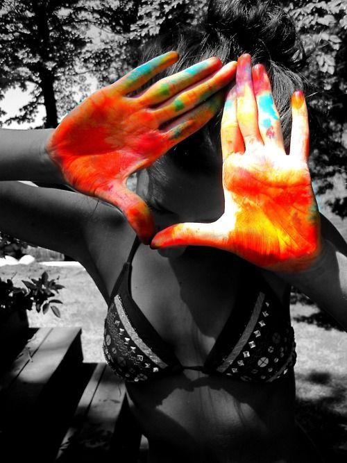 tye-dye hands (: