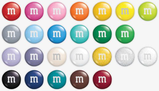 Customize Chocolate M&Ms - Personalized Message, Choose Colors, Add Photos - expensive if personalized, but could at least get pink and navy ones (not quite as pricey)
