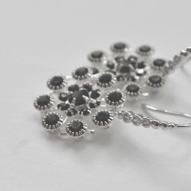 Swarovski Filigree On Cubic Zirconia Studded Plated Ear Hooks on Carousell