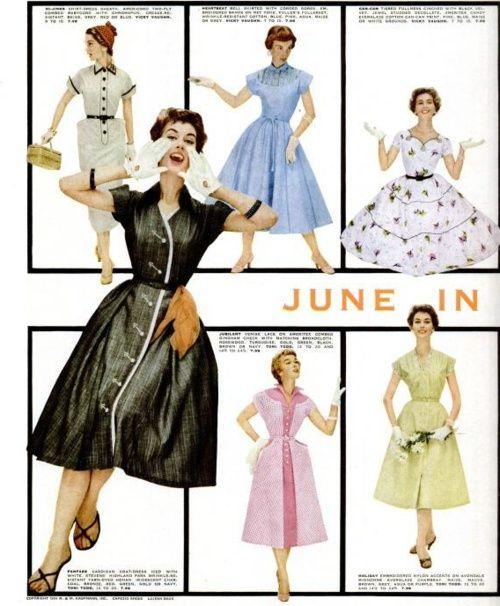 画像 : かわいい♡50年代のおしゃれな雑誌広告