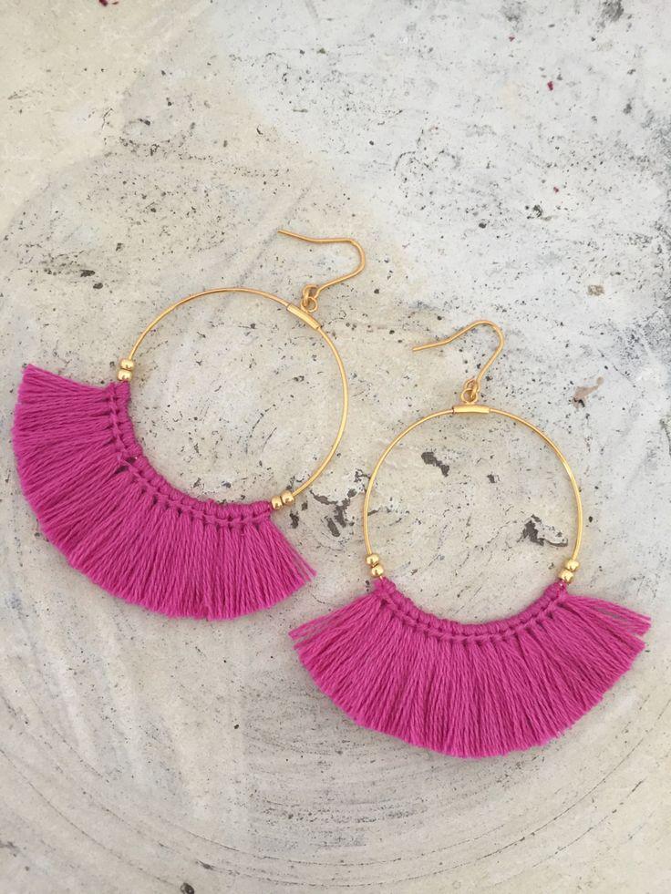 Hoop Tassel Earrings....x