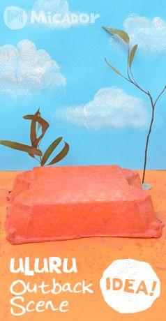 Celebrate Australia Day by making your own Uluru Outback Scene