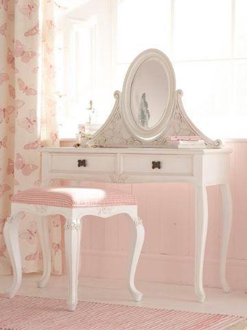 "lavendela: ""(via Mum Said - Kids Furniture > Vanity Tables > Matilda Butterfly Dressing Table-In White) """