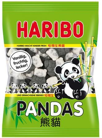-in USA- HARIBO Pandas - soft marshmallow gummy candy -