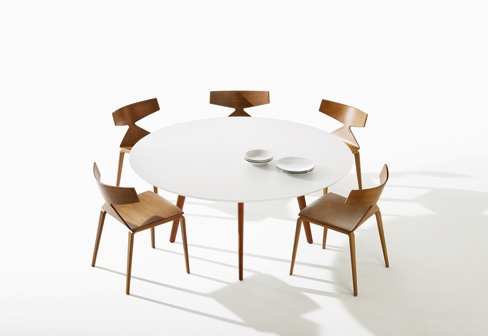 Saya Chair with Gher Table by Arper. Available from Stylecraft.