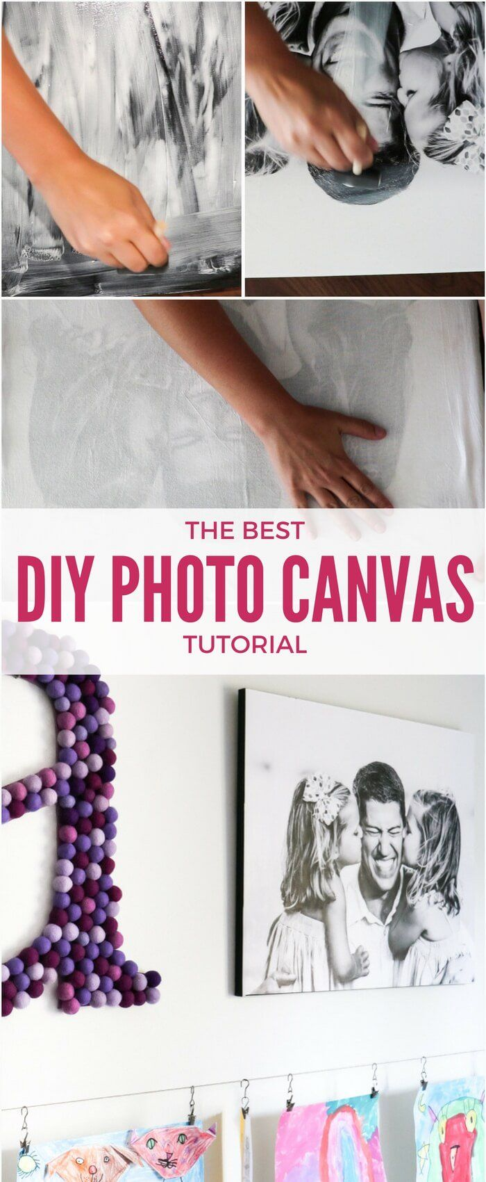If you love the look of photo canvases, but can't believe how expensive they are, this is the DIY tutorial for you! Learn how to make your own photo canvas prints for a FRACTION of custom ordered photo canvases from stores!