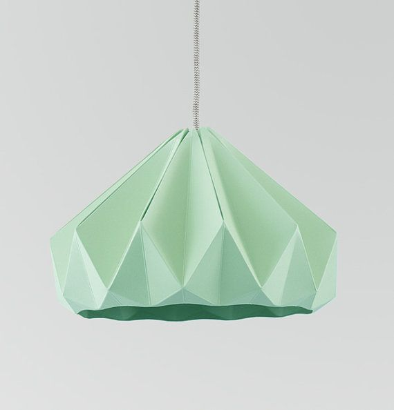 origami light Chestnut Mint Green