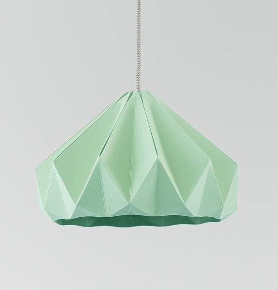 origami light Chestnut Mint Green by nellianna on Etsy - $108