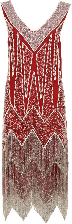 We can't get enough of this Miss Selfridge red flapper dress on shopstyle.co.uk