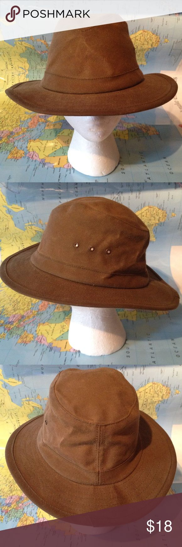 Orvis brown cotton hat adventure safari Used hat with no holes, rips or tears from smoke free environment, thank you.  SKU 113016.001.00Y Orvis Accessories Hats