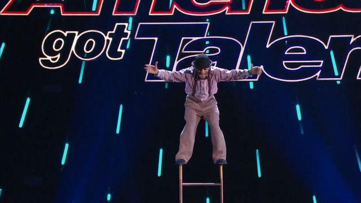 America's Got Talent 2015 S10E09 Judge Cuts - Uzeyer Novruzov Ladder Acr...