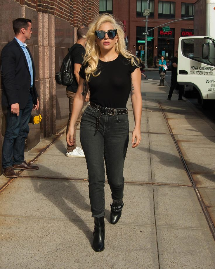 Lady Gaga Coolly Masters Denim in Summer Without Overheating