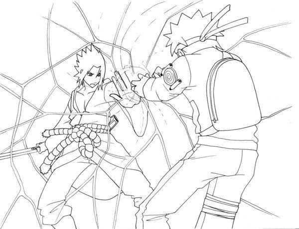 Naruto Rasengan Vs Sasuke Chidori Coloring Pages Coloring Pages Art Sasuke