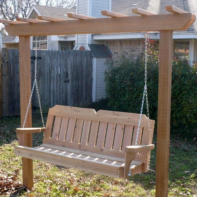 Best 25 garden swings ideas on pinterest yard swing garden swing seat and firewood holder - Arbor bench plans set ...