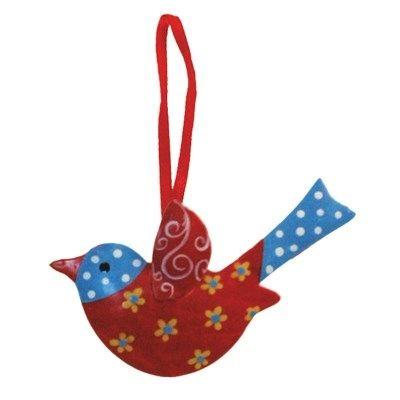Hanger Vogel Rood