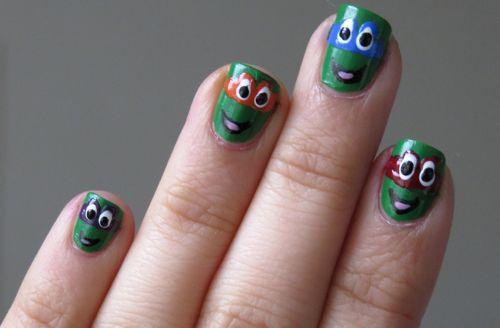Teenage Mutant Ninja Turtles #nailart